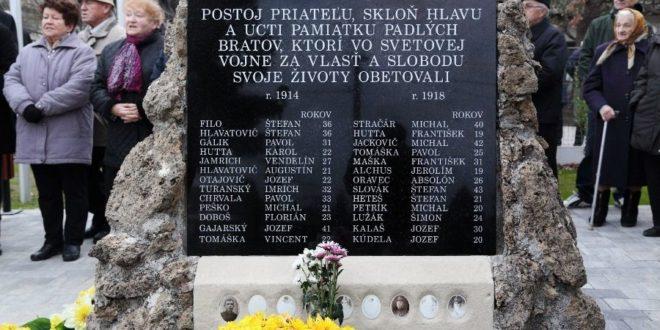 Obnovený pomník padlých
