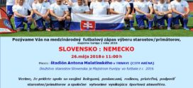Zápas výberu starostov SLOVENSKO –  NEMECKO